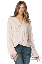 Elan Cross Front V-Neck Top - Product Mini Image