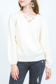 Very J  Cross Neck Sweater - Product Mini Image