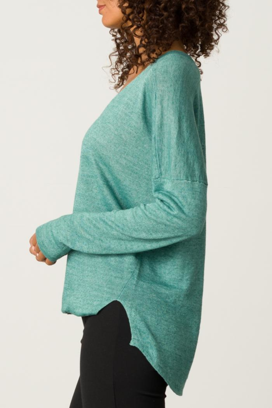 Margaret O'Leary Cross Over Pullover - Front Full Image