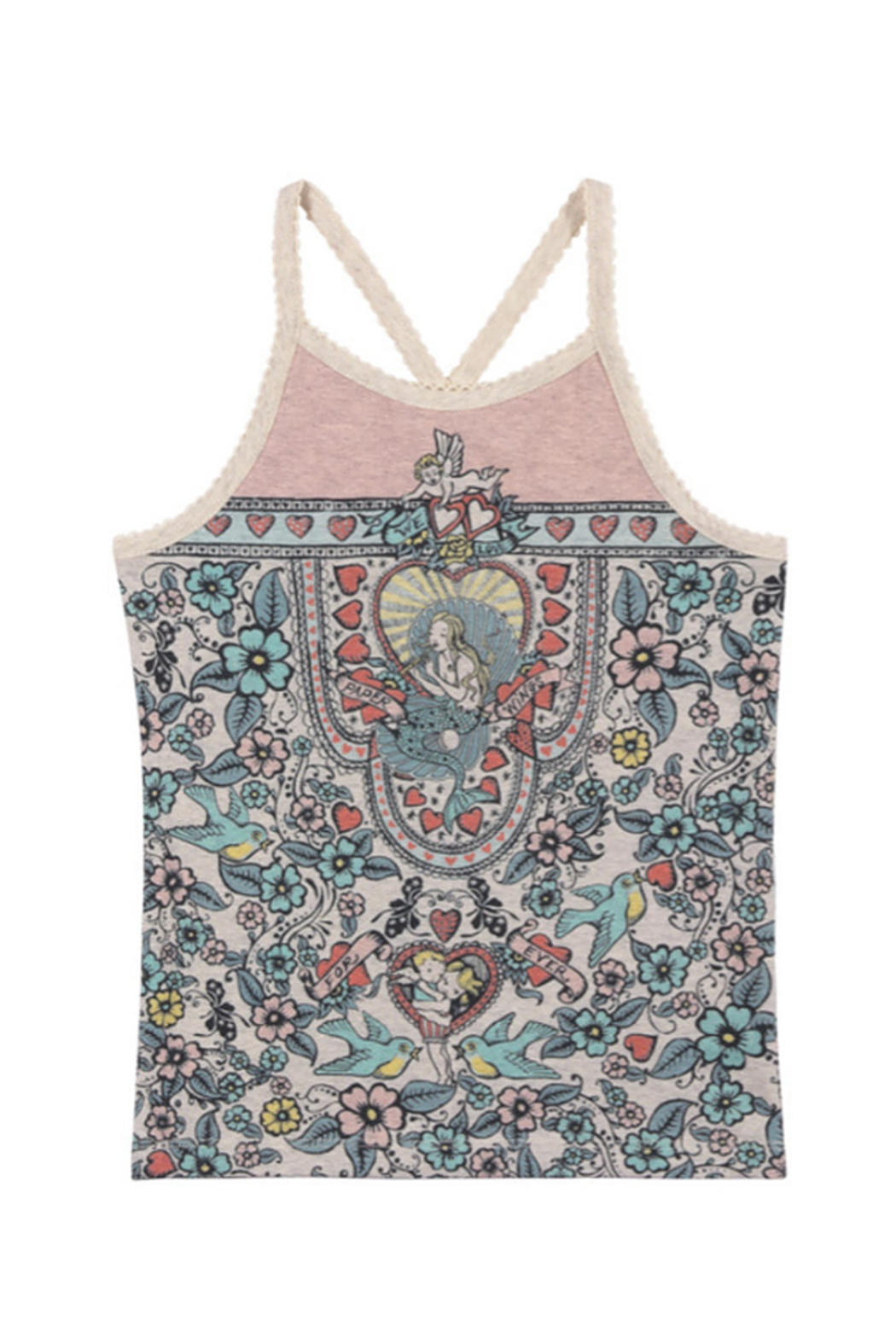 Paper Wings Cross Over Singlet Tank Top - Main Image