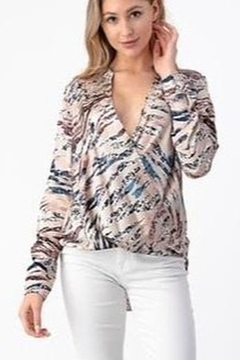Olivia Graye Cross Over Snap Front Top - Product List Image