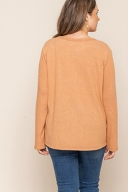 All In Favor CROSS OVER SWEATER - Side cropped