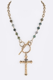Nadya's Closet Cross Pendant Necklace - Front cropped