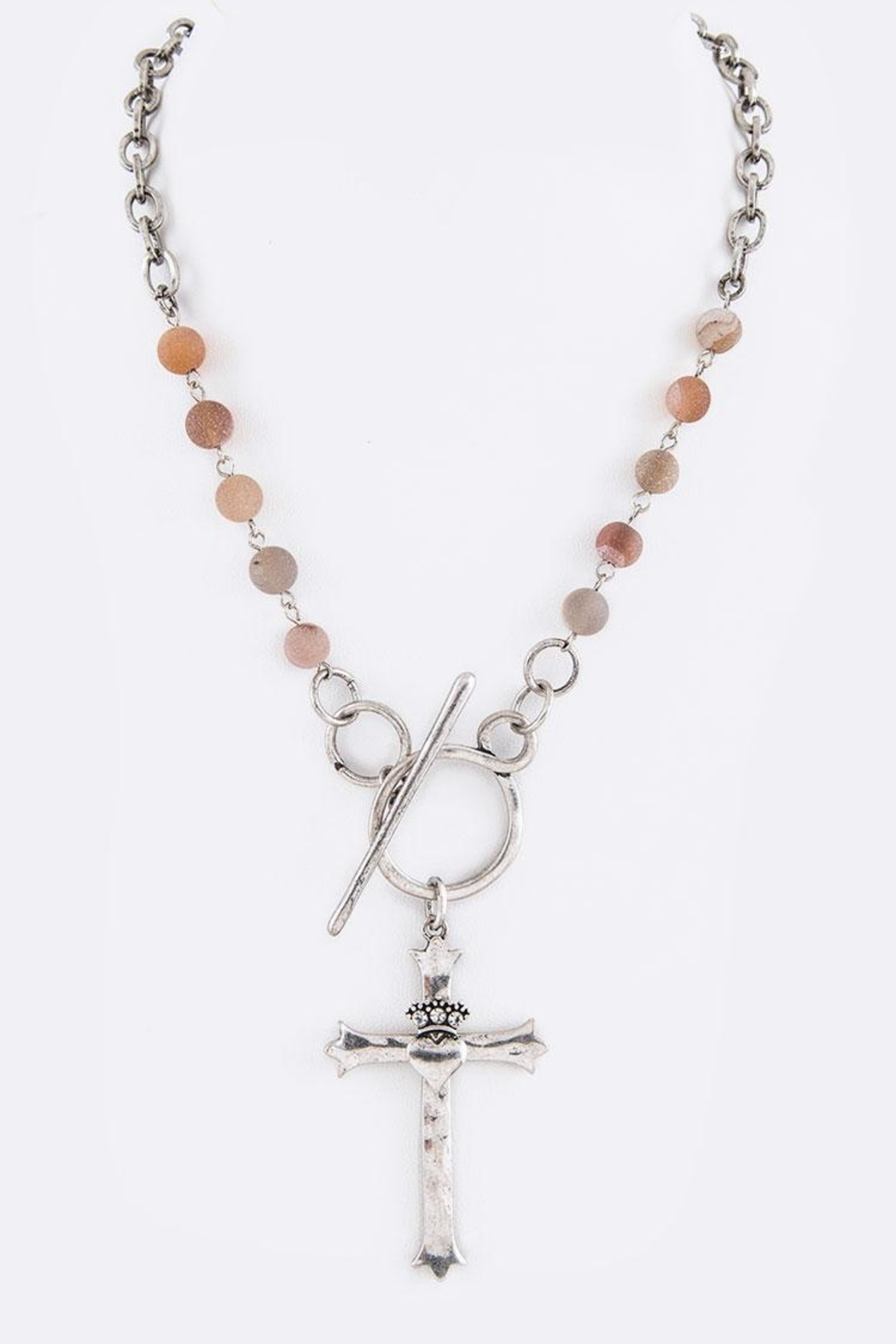 Nadya's Closet Cross Pendant Necklace - Front Cropped Image