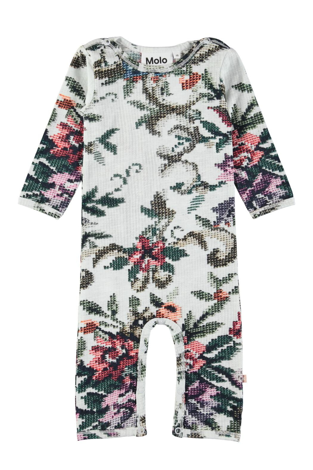 Molo Cross Stitch Playsuit - Front Cropped Image