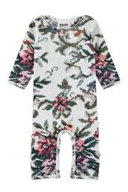 Molo Cross Stitch Playsuit - Front cropped