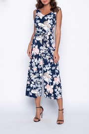 Frank Lyman Crossback Floral Jumpsuit - Front full body