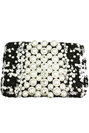 Sondra Roberts Crossbody Boucle with Pearl Applique - Product Mini Image