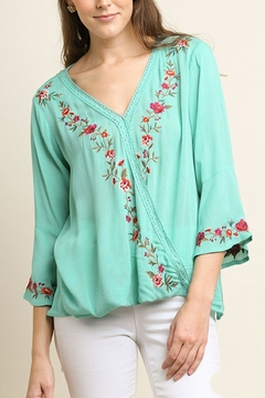 Shoptiques Product: Crossbody Embroidered Top