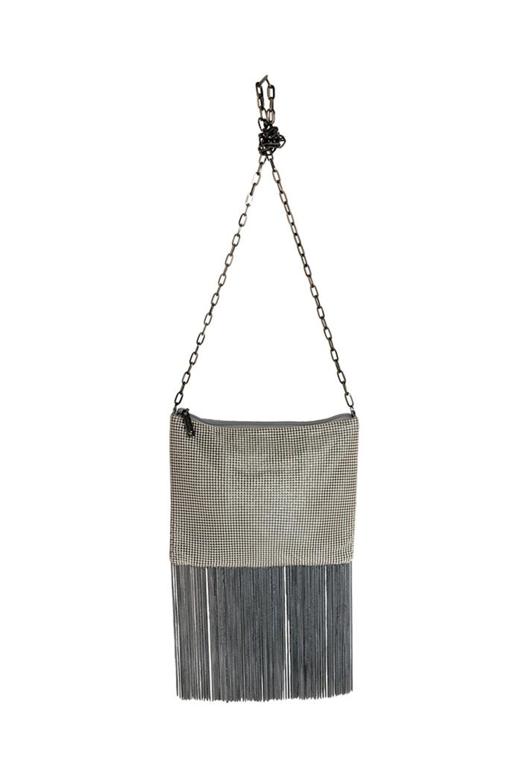 Whiting And Davis Crossbody Fringe Bag Front Cropped Image