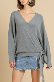 Umgee USA Crossbody Knit Top - Front cropped