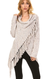Adore Crossbutton Fringe Cardigan - Product Mini Image