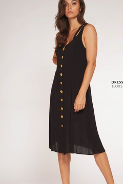 Dex Crossed Strap Button Down Midi Dress - Product List Image
