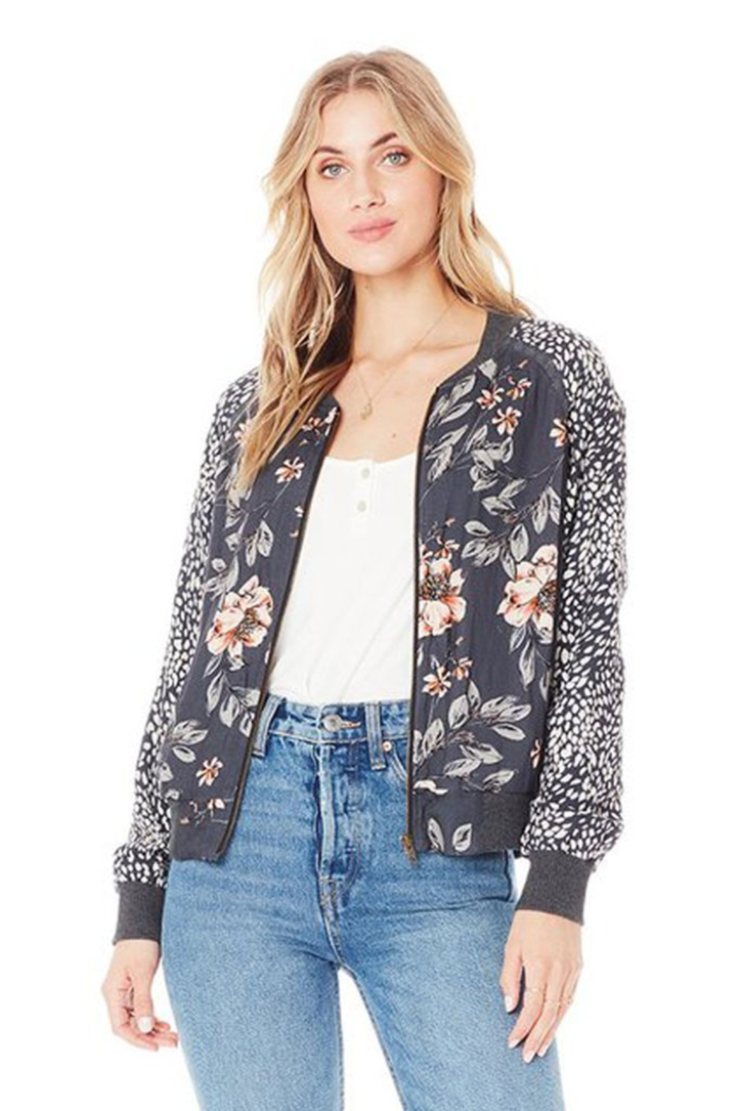 Saltwater Luxe Crossfire Bomber Jacket - Main Image
