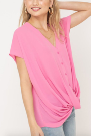 Lush Clothing  Crossfront Button Top - Product Mini Image