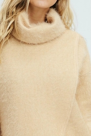 White Birch Crossover Cowl Sweater - Back cropped