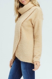 White Birch Crossover Cowl Sweater - Front full body