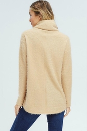 White Birch Crossover Cowl Sweater - Side cropped