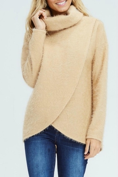 White Birch Crossover Cowl Sweater - Product List Image