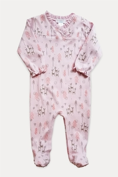 Feather Baby Crossover Deer Footie - Alternate List Image