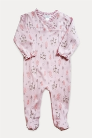 Feather Baby Crossover Deer Footie - Front cropped
