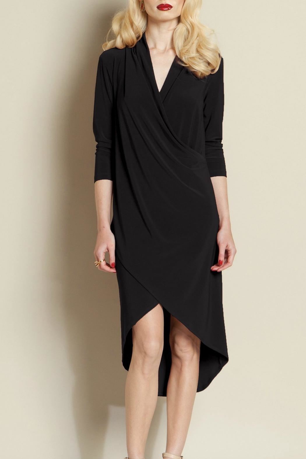 Clara Sunwoo Crossover Knit Dress - Front Cropped Image