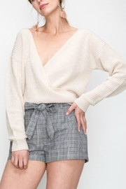 Pretty Little Things Crossover Plunge Sweater - Product Mini Image