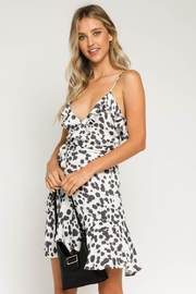 Olivaceous  Crossover Ruffle Dress - Product Mini Image
