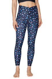 Betsey Johnson Crossover Waistband Floral Legging - Product Mini Image