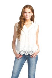 Papillon  Crotchet High Low Blouse - Product Mini Image