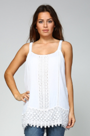 Apparel Love Crotchet Tunic Tank Top - Product Mini Image