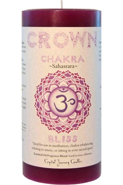Crystal Journey Candles Crown Chakra Candle - Alternate List Image