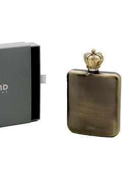 Lund London Crown Flask Gold - Product List Image