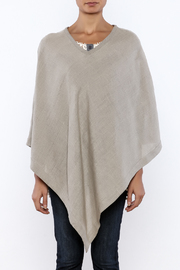 Crown Linen Designs Linen Poncho - Side cropped