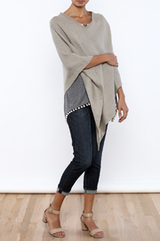Crown Linen Designs Linen Poncho - Front full body