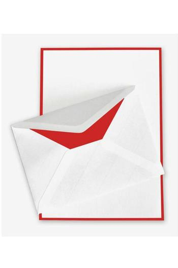 Crown Mill Red Trimmed Stationery - Main Image