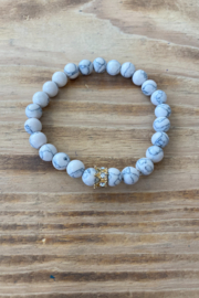The Royal Standard Crowned Marble Bracelet - Product Mini Image