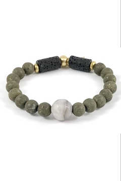 Crunchy Diva Designs Pyrite Diffuser Bracelet - Alternate List Image