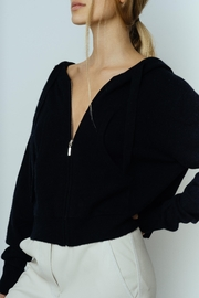 crush Rio Crop Hoodie Black - Product Mini Image