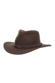 Scala Crushable Wool Felt Outback Hat - Front cropped