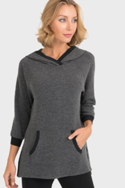 Joseph Ribkoff  Crushed Clouds Hoodie in Charcoal - Product Mini Image