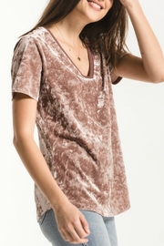 z supply Crushed Velour Tee - Front cropped