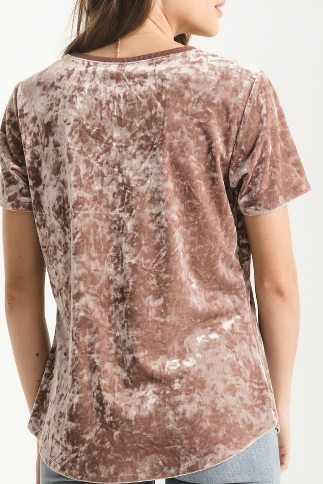 z supply Crushed Velour Tee - Front Full Image