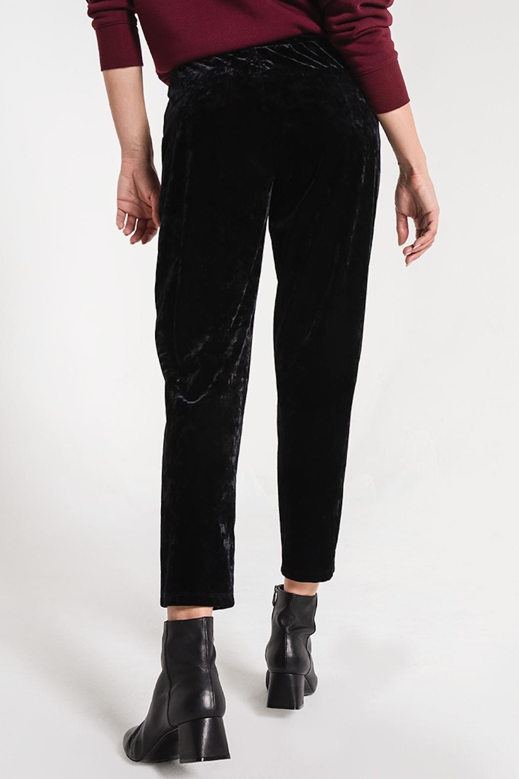 z supply Crushed Velour Trouser - Side Cropped Image
