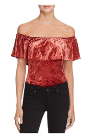 Band Of Gypsies Crushed Velvet Bodysuit - Product Mini Image