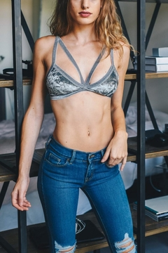 Leto Crushed Velvet Bralette - Product List Image