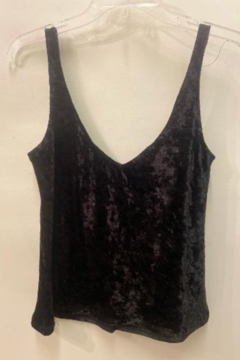 Bianco Jeans Crushed Velvet Tank Top - Product List Image