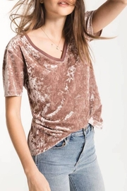 z supply Crushed Velvet Tee - Front full body