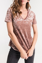 z supply Crushed Velvet Tee - Front cropped
