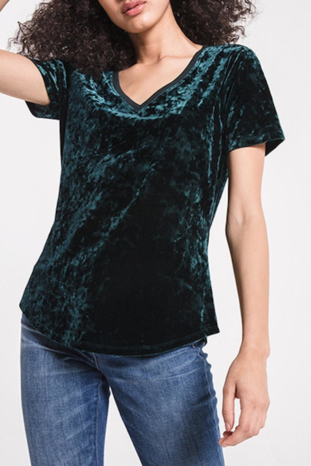 z supply Crushed Velvet Tee - Front Cropped Image